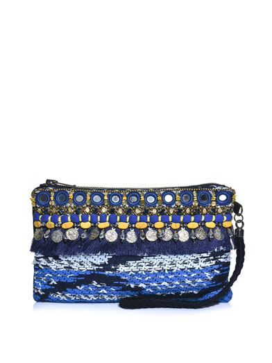 Matthew Williamson Taj tapestry clutch