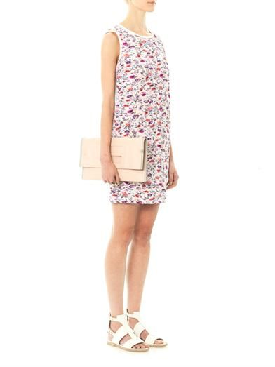 MSGM Floral-print pleated shift dress