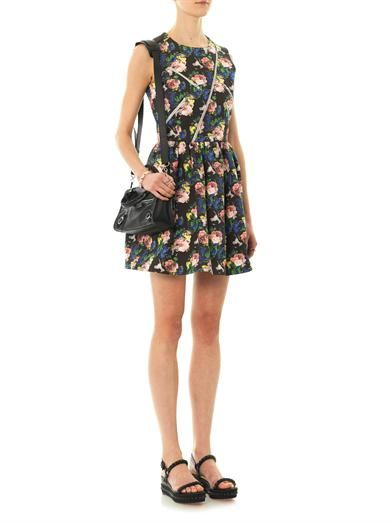 MSGM Floral-print cotton dress