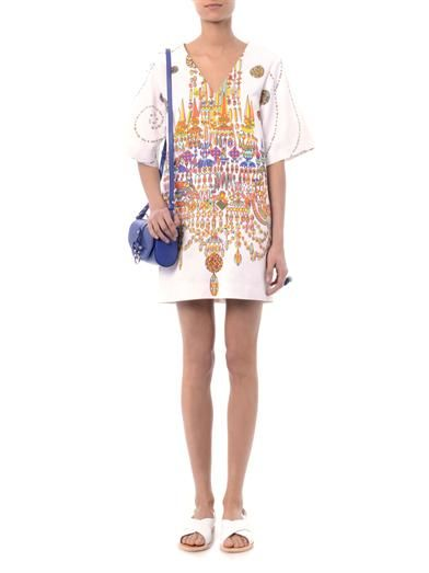 MSGM Chandelier-print shift dress