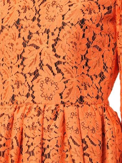 MSGM Long-sleeved lace dress