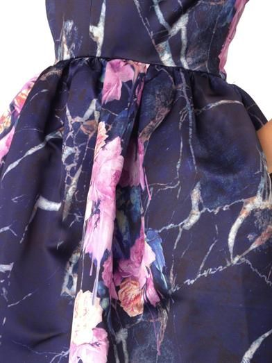 MSGM Floral-print duchess-satin dress