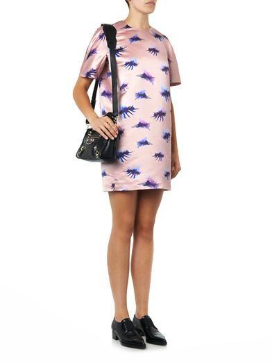 MSGM Eyelash-print satin dress