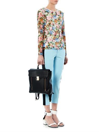MSGM Floral-print lace blouse