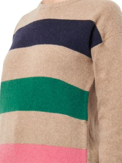 MSGM Block-stripe wool sweater