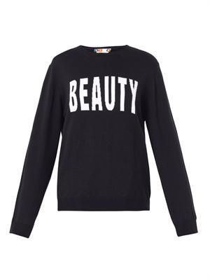 Beauty-intarsia wool-knit sweater