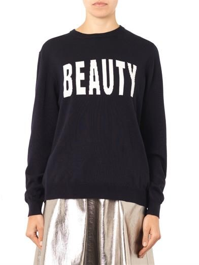 MSGM Beauty-intarsia wool-knit sweater
