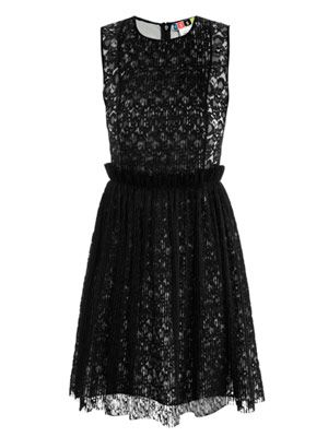 Pin-tuck lace dress