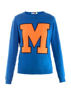 M colour-block sweater