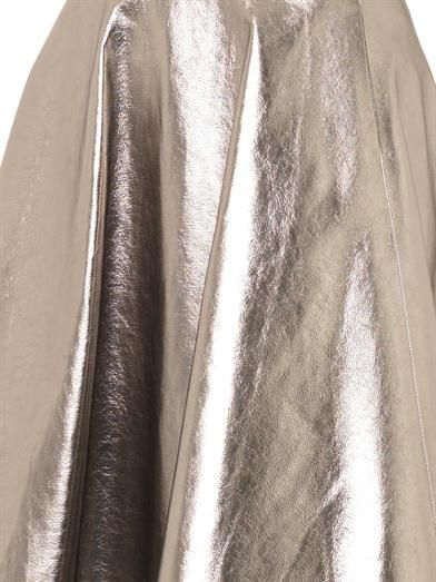 MSGM Metallic faux-leather skirt