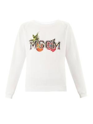Tropical logo-print cotton sweatshirt