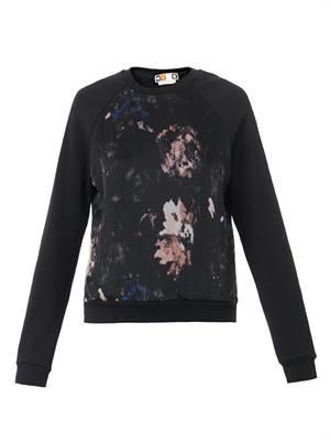 Floral-print cotton sweatshirt