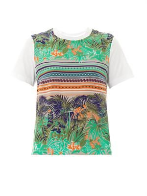 Tropical Fern-print T-shirt