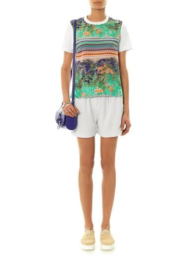 MSGM Tropical Fern-print T-shirt