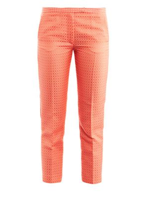 Jacquard cropped trousers