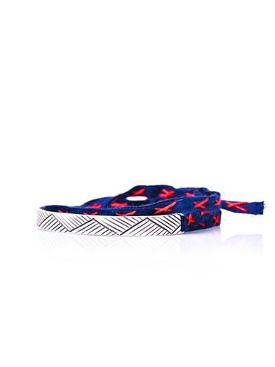Mathias Chaize Embroidered fabric wrap-around bracelet