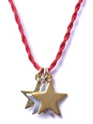 Three star pendant necklace