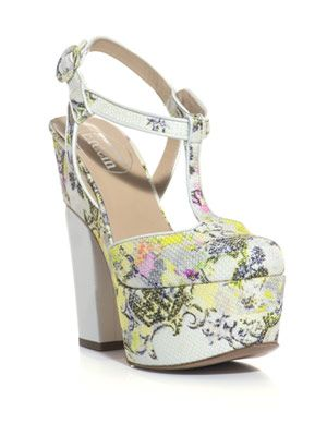 Chinon-print platform shoes