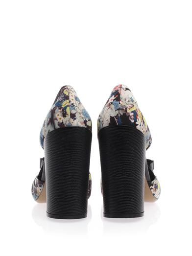 Nicholas Kirkwood For Erdem Floral-print point-toe pumps