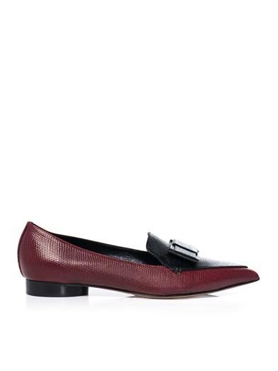 Nicholas Kirkwood For Erdem Bi-colour leather flats