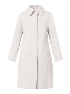 Bonded wool-blend coat