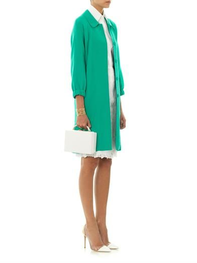 Nina Ricci Single-breasted wool-crepe coat
