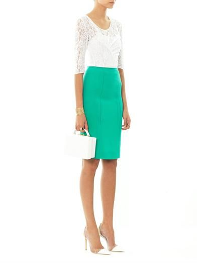 Nina Ricci Wool-crepe pencil skirt