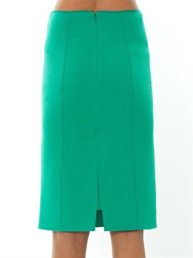 Nina Ricci Wool-crepe pencil skirt