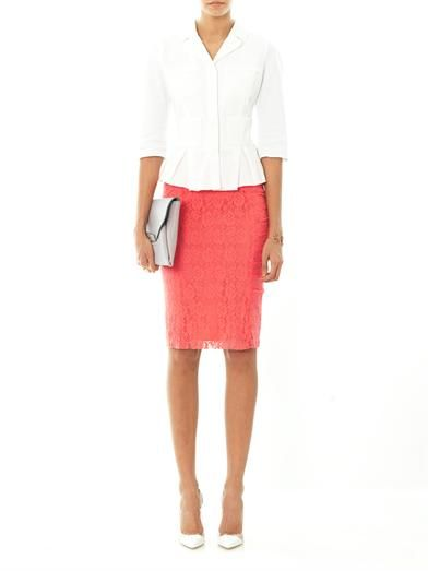 Nina Ricci Floral-lace pencil skirt