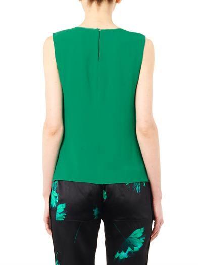 Nina Ricci Vertical ruffle silk blouse