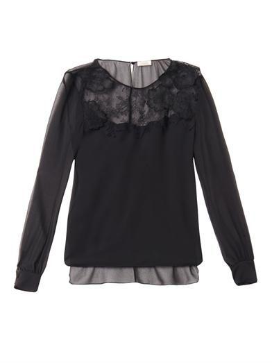 Nina Ricci Lace and chiffon blouse