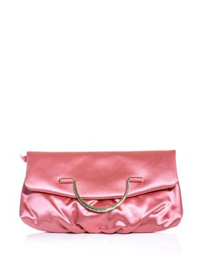 Satin fold-over clutch