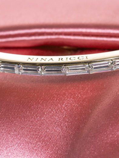 Nina Ricci Satin fold-over clutch