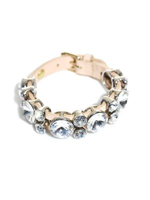 Swarovski-embellished leather bracelet