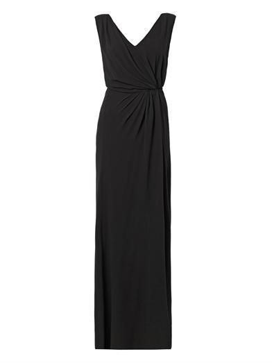 Nina Ricci Draped-side silk-crepe gown
