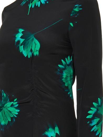 Nina Ricci Floral-print silk dress