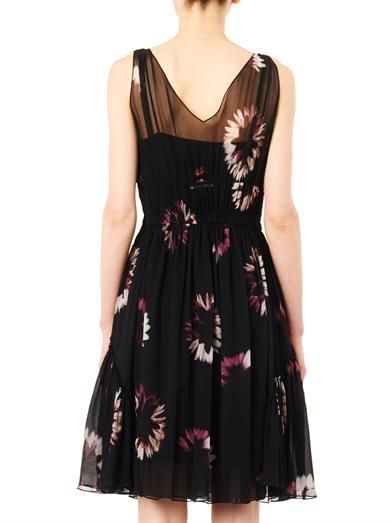 Nina Ricci Floral-print silk-chiffon dress
