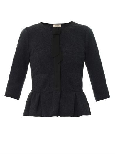 Nina Ricci Stretch-tweed peplum jacket