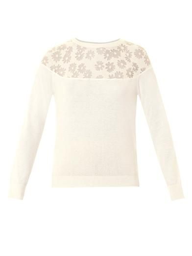 Nina Ricci Burnout-floral sweater