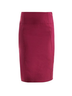 Ruched seam pencil skirt