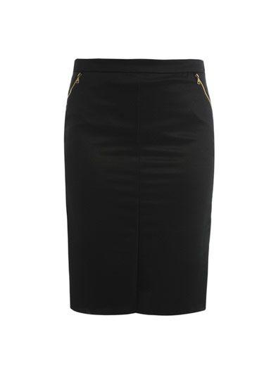Nina Ricci Zip trimmed pencil skirt