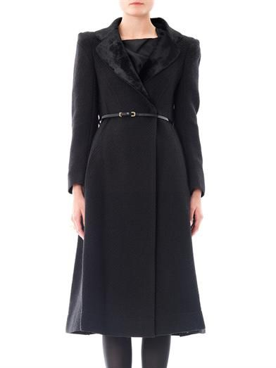 Nina Ricci Textured tweed coat