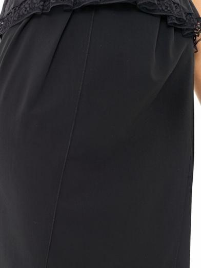 Nina Ricci Wool panel skirt
