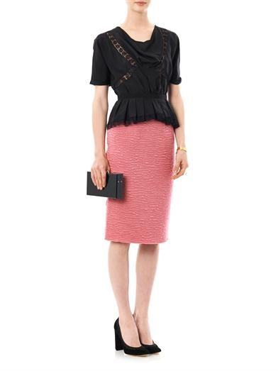 Nina Ricci Textured tweed pencil skirt