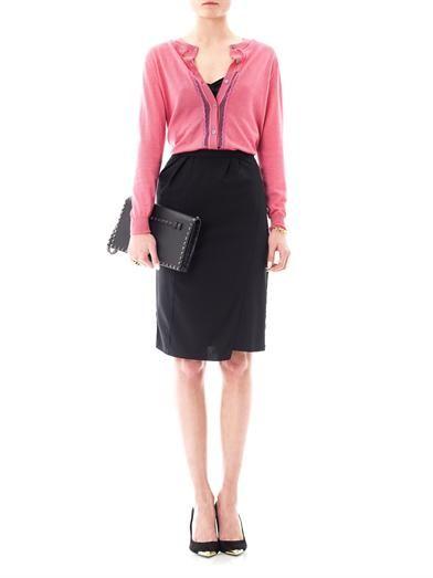 Nina Ricci Lace trimmed cashmere cardigan