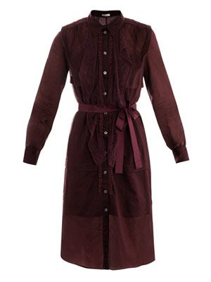 Cotton voile shirt dress