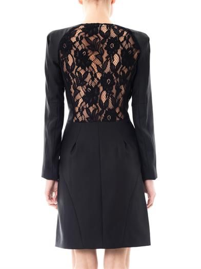 Nina Ricci Lace back tuxedo dress