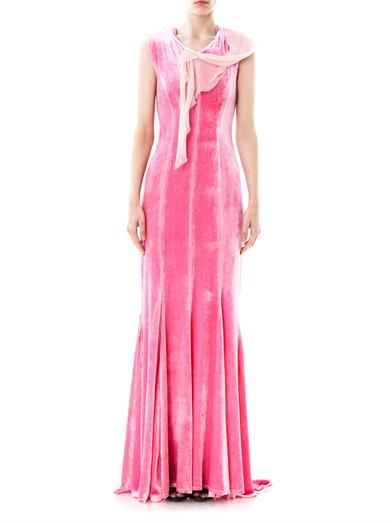 Nina Ricci Velvet and lace gown
