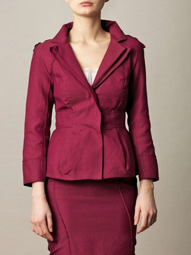 Nina Ricci Layered lapel three-button jacket