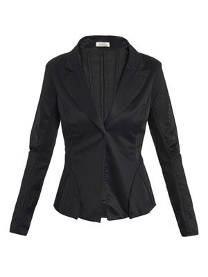 Mesh fitted tailored jacket